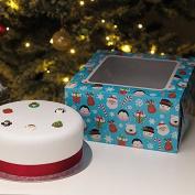 Christmas Cake Box and Cake Board. Children's Design 25cm