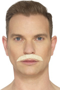 Smiffy's 49638 Iconic Rock Star Moustache, Blonde, One Size