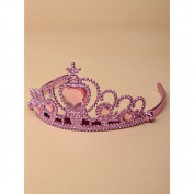 Metallic Pink Tiara with Centre Heart Stone