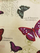 French Butterfly Printed Canvas Material For Arts craft Fabric Textile Bags Quality Sternbergs