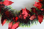 Triple Coloured Holly Leaf Christmas Tinsel x 2 Metre Lengths!