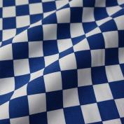 Blue & White 22 mm Chef Cheque 100% Cotton Drill Fabric