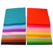 40 PCS Assorted Colour DIY Craft Felt Nonwoven Fabric Sheet Square 1mm Thickness 15 x 15cm 5.9 x 5.9inch