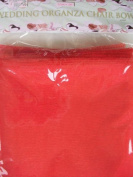 Organza Chair Bow Red 6pk