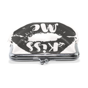 COOSUN Kiss Me LipsLeather Coin Purse snap Closure Clutch Coin Wallet