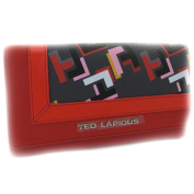Wallet + chequebook holder 'Ted Lapidus' red multicoloured.