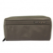 Zip wallet + chequebook holder fabric 'Hedgren' mole.