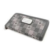 Wallet + chequebook holder zipped 'Jacques Esterel' dark grey.