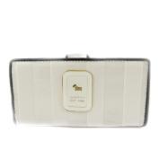 Wallet + chequebook holder 'Dogs By Beluchi' silvery white.
