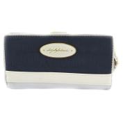 Wallet + chequebook holder 'Dogs By Beluchi' silver blue.