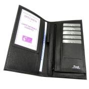 Leather chequebook holder 'Frandi' black.