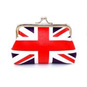 Panlom® Women's PU Small Coin Purse Flag Prints Travel Makeup Bag Portable Wallet Hasp Bag Beauty Organiser