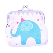 HENGSONG Elephant Pattern Coin Purse PU Leather Small Wallet Hasp Purse Clutch Bag