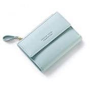 OURBAG Women Lady ID Card Coin Holder Bifold Korean Wallet Clutch Zipper Purse Green