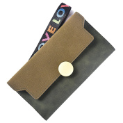 good01 Women Fashion Matte Trifold Long Wallet Coin Purse Card Holder Hand Strap Clutch