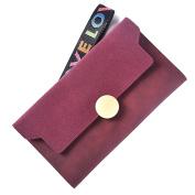 good01 Women Fashion Matte Trifold Long Wallet Coin Purse Card Holder Hand Strap Clutch