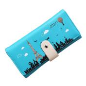 good01 Women Fashion Tower Pattern Long Wallet Button Coin Purse Card Holder Clutch Bag