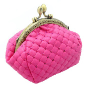 Profusion Circle Vintage Women Coin Purse Woollen Yarn Knitted Mini Wallet Card Holder Bag Clutch Bag