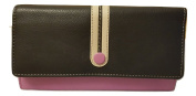 Ladies Womens Dark Blue Dusy Pink and Ivory Matinee Purse