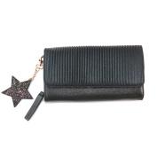 """Large purse 'Lollipops'black glitter (star)- 21x12x3.5 cm (8.27""""x4.72""""x1.38"""")."""
