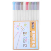 10pcs Metallic Colour Pen Colouring Painting Writing Set Student Office Home Art Supply