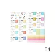 Holo Cute Calendar Label Stickers Notebook Decorative Scrapbooking Craft