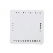 Kumihimo Square Disc, Braiding Plate, 10mm EVA Foam Braiding Square Disc For Japanese Flat Braiding and Cording