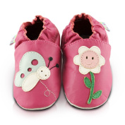 Snuggle Feet Smiley Flower Soft Leather Baby Shoes | 6-12 months