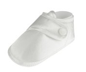 White Boys Christening Wrap Over Satin Shoes