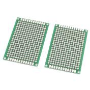 2Pcs Double-Side Prototype Solderable Paper Universal PCB Board 4x6cm