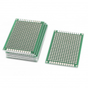 10Pcs Double-Side Prototype Solderable Paper Universal PCB Board 4x6cm