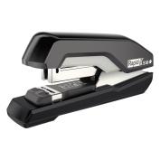 Rapid Supreme S50 SuperFlatClinch Half Strip Stapler, 50-Sheet Capacity, Black/Grey