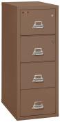Fireking Legal Safe-In-A-File Fireproof Vertical File Cabinet (3 Drawers, Impact Resistant, Waterproof), Tan