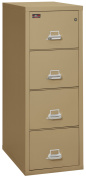 Fireking Fireproof 2 Hour Rated Vertical File Cabinet (4 Legal Sized Drawers, Impact Resistant, Waterproof), 140cm H x 50cm W x 80cm D, Sand