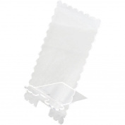 Clear Scraps Acrylic Phone Stand 10cm x 20cm -scalloped
