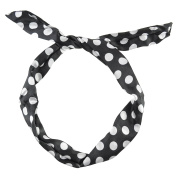 Cloud9basic Girls Ladies 50s Retro Polka Dot Wire Headband, Flexible Ears Hair Accessory, Party Look, Pin up, Bunny Ears, Width 4cm, Length 80cm