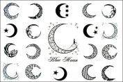 GRASHINE High quality and realistic Hot selling and fashionable Blue Moon of men and women waterproof tattoo sticker