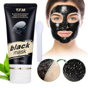 Blackhead Remover Mask Y.F.M. Black Mask Bamboo Charcoal Deep Cleansing Purifying Acne Blackhead Peel-off Mask 50g