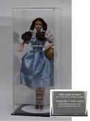 30cm Doll Size Personalised Laser Etched - Engraved Acrylic Display Case with Black Base