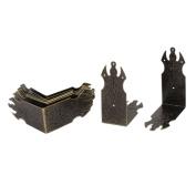 Unique Bargains Chest Wine Case Box Desk Edge Cover Corner Protector 69mm x 28mm 10PCS