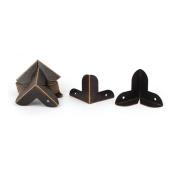 22mm x 22mm Desk Edge Cover Corner Protector 20PCS w Screws for Chest Gift Box