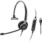 Sennheiser Century SC 630 USB ML Wired Mono Headset - Over-the-head - Circumaural - Black, Silver- does not include cable