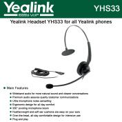 Yealink YHS33 Wideband Headset for Yealink IP Phones, plug and play