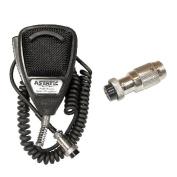 Astatic 636L 4-Pin CB Radio Microphone W/ 6-Pin Cobra Radio Compatible Adapter