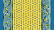 Toland Home Garden 810006 French Paisley Yellow Anti-Fatigue Comfort Soft Step Designer Mat, 100cm by 50cm , Multicolor