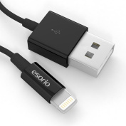 esorio® MFI Lightning Apple iPhone to USB data cable 2m in black