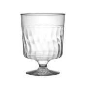 Fineline Settings, Inc Flairware Rippled Disposable Plastic 240ml Wine Glass
