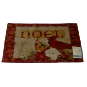 Mohawk Red Cardinal Throw Accent Rug Noel Christmas Mat with Non-Skid Back