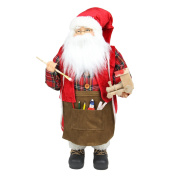 60cm Animated Santa Claus Painting a Toy Train Christmas Decoration