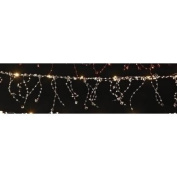 1.8m Battery Operated Warm White Lighted Faceted Bead Christmas Garland
